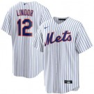 Youth New York Mets #12 Francisco Lindor White Cool Base Jersey