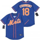Youth New York Mets #18 Darryl Strawberry Blue 2020 Cool Base Jersey