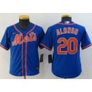 Youth New York Mets #20 Pete Alonso Blue 2020 Cool Base Jersey