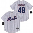 Youth New York Mets #48 Jacob deGrom White 2020 Cool Base Jersey