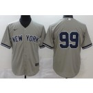Youth New York Yankees #99 Aaron Judge Gray 2020 Cool Base Jersey