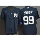 Youth New York Yankees #99 Aaron Judge Navy Alternate Player Name Cool Base Jersey
