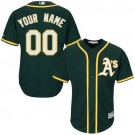 Youth Oakland Athletics Customized Green Cool Base Jersey