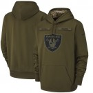 Youth Oakland Raiders Olive Salute To Service Printed Pullover Hoodie