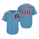 Youth Philadelphia Phillies Customized Light Blue Cooperstown Throwback Cool Base Jersey