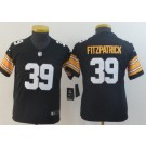 Youth Pittsburgh Steelers #39 Minkah Fitzpatrick Limited Black 2018 Vapor Untouchable Jersey