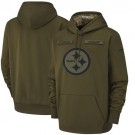 Youth Pittsburgh Steelers Olive Salute To Service Printed Pullover Hoodie