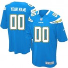 Youth San Diego Chargers Customized Game Electric Blue Jersey