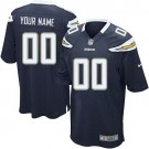 Youth San Diego Chargers Customized Game Navy Jersey