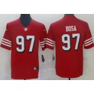 Youth San Francisco 49ers #97 Nick Bosa Limited Red Rush Color Jersey