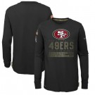 Youth San Francisco 49ers Black 2020 Salute To Service Long Sleeves T Shirt