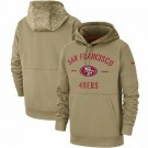 Youth San Francisco 49ers Tan 2019 Salute to Service Sideline Therma Printed Pullover Hoodie