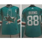 Youth San Jose Sharks #88 Brent Burns Green 2019 Authentic Jersey
