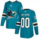 Youth San Jose Sharks Customized Blue Authentic Jersey