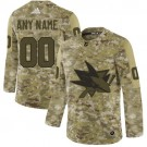 Youth San Jose Sharks Customized Camo Authentic Jersey