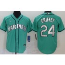 Youth Seattle Mariners #24 Ken Griffey Green 2020 Cool Base Jersey
