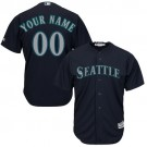 Youth Seattle Mariners Customized Navy Blue Cool Base Jersey