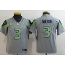 Youth Seattle Seahawks #3 Russell Wilson Limited Gray Inverted Vapor Untouchable Jersey