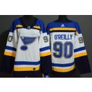 Youth St Louis Blues #90 Ryan O'Reilly White Authentic Jersey