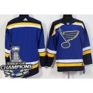 Youth St Louis Blues Blank Blue 2019 Stanley Cup Champions Jersey