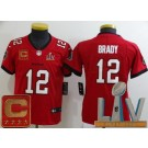 Youth Tampa Bay Buccaneers #12 Tom Brady Limited Red Captain Patch 2021 Super Bowl LV Bound Vapor Untouchable Jersey