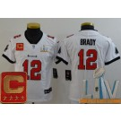 Youth Tampa Bay Buccaneers #12 Tom Brady Limited White Captain Patch 2021 Super Bowl LV Bound Vapor Untouchable Jersey