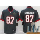 Youth Tampa Bay Buccaneers #87 Rob Gronkowski Limited Pewter 2021 Super Bowl LV Bound Vapor Untouchable Jersey