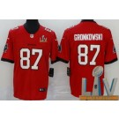 Youth Tampa Bay Buccaneers #87 Rob Gronkowski Limited Red 2021 Super Bowl LV Bound Vapor Untouchable Jersey