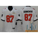 Youth Tampa Bay Buccaneers #87 Rob Gronkowski Limited White 2021 Super Bowl LV Bound Vapor Untouchable Jersey