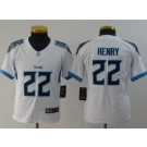 Youth Tennessee Titans #22 Derrick Henry Limited White Vapor Untouchable Jersey