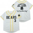 Youth The Bad News Bears #3 Chico's Bail Bonds Let Freedon Ring White Baseball Jersey
