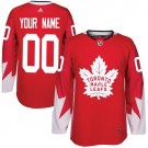 Youth Toronto Maple Leafs Customized Red Authentic Jersey