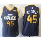 Youth Utah Jazz #45 Donovan Mitchell Navy Icon Sponsor Swingman Jersey