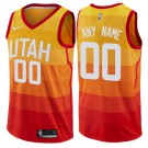 Youth Utah Jazz Customized Orange City Icon Swingman Nike Jersey