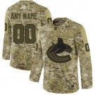 Youth Vancouver Canucks Customized Camo Authentic Jersey