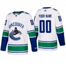 Youth Vancouver Canucks Customized White Authentic Jersey