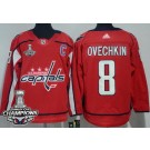 Youth Washington Capitals #8 Alex Ovechkin Red 2018 Champions Jersey