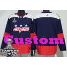 Youth Washington Capitals Customized Navy 2018 Stadium Series Stanley Cup Champions Jersey