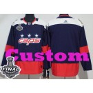 Youth Washington Capitals Customized Navy 2018 Stadium Series Stanley Cup Finals Jersey