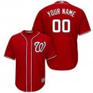 Youth Washington Nationals Customized Red Cool Base Jersey