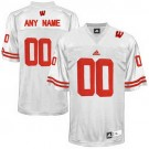 Youth Wisconsin Badgers Customized White College Football Adidas Jersey