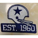 Dallas Cowboys Established in 1960 Celebrate 60th Anniversary Patch