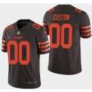 Men's Cleveland Browns Customized Limited Rush Color Jersey
