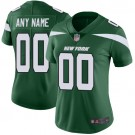 Women's New York Jets Customized Limited Green Vapor Untouchable Jersey