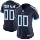 Women's Tennessee Titans Customized Limited Navy Vapor Untouchable Jersey