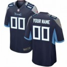 Youth Tennessee Titans Customized Game Navy Jersey