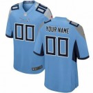 Youth Tennessee Titans Customized Game Light Blue Jersey